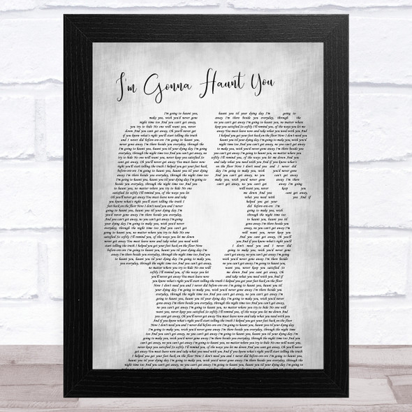 Fabienne Delsol I'm Gonna Haunt You Lesbian Women Gay Brides Couple Wedding Grey Song Lyric Music Art Print