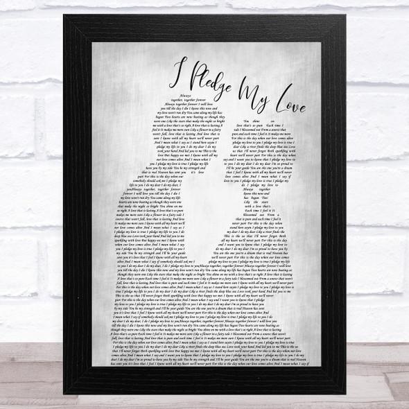 Peaches I Pledge My Love Man Lady Bride Groom Wedding Grey Song Lyric Music Art Print