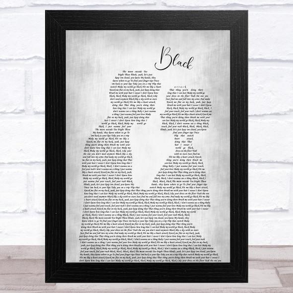 Dierks Bentley Black Man Lady Bride Groom Wedding Grey Song Lyric Music Art Print