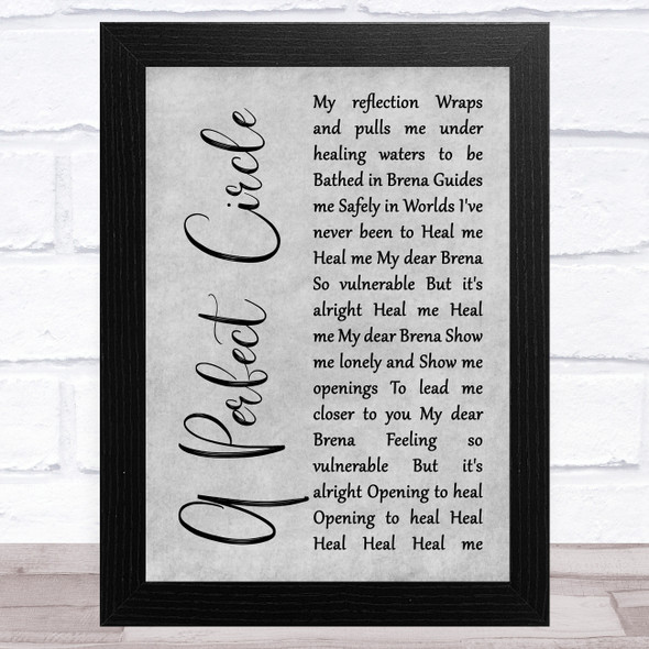 A Perfect Circle Brena Grey Rustic Script Song Lyric Music Art Print