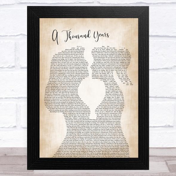 Christina Perri A Thousand Years Lesbian Women Gay Brides Couple Wedding Song Lyric Music Art Print