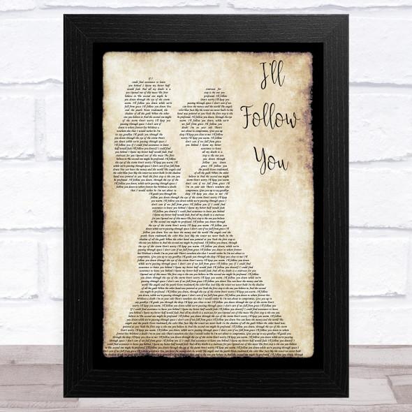 Shinedown I'll Follow You Lesbian Couple Two Ladies Dancing Song Lyric Music Art Print