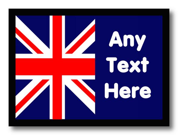Union Jack British Flag Personalised Computer Mousemat