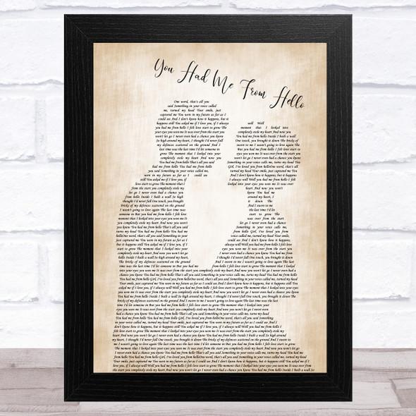 Kenny Chesney You Had Me From Hello Man Lady Bride Groom Wedding Song Lyric Music Art Print