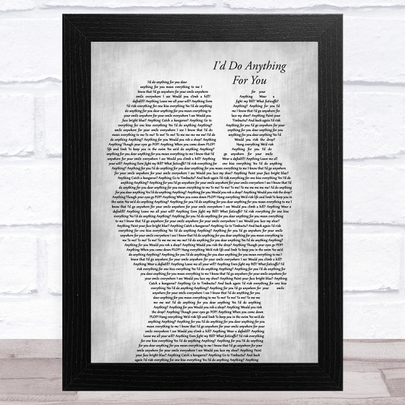 Oliver the Musical I'd Do Anything for You Mother & Baby Grey Song Lyric Music Art Print