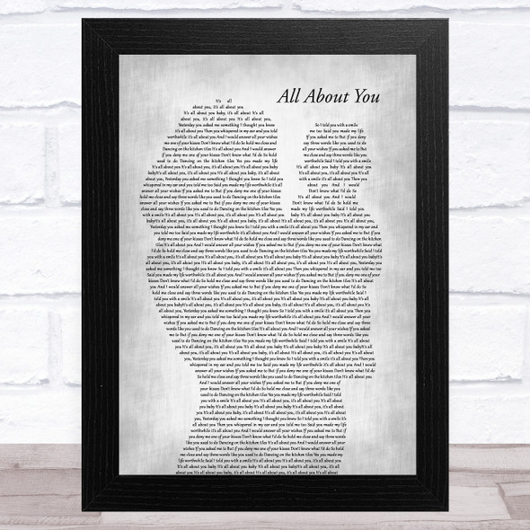 McFly All About You Mother & Baby Grey Song Lyric Music Art Print