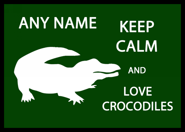 Keep Calm And Love Crocodiles Personalised Computer Mousemat