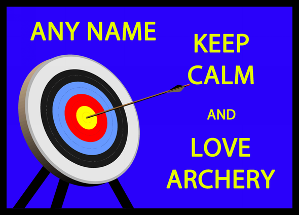 Keep Calm And Love Archery Personalised Computer Mousemat