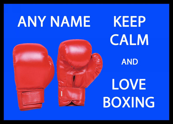 Keep Calm And Love Boxing Personalised Computer Mousemat