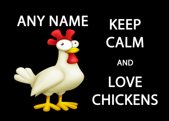 Keep Calm And Love Chickens Personalised Computer Mousemat