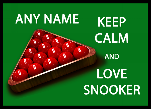Keep Calm And Love Snooker Personalised Computer Mousemat