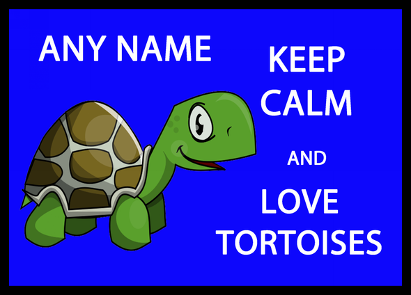 Keep Calm And Love Tortoises Personalised Computer Mousemat