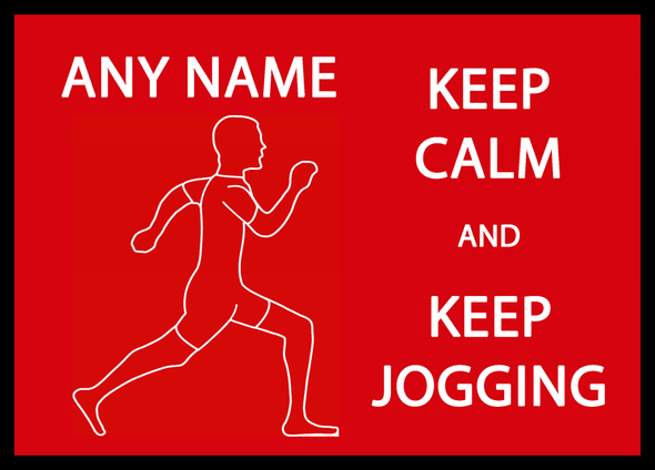 Keep Calm And Keep Jogging Personalised Computer Mousemat