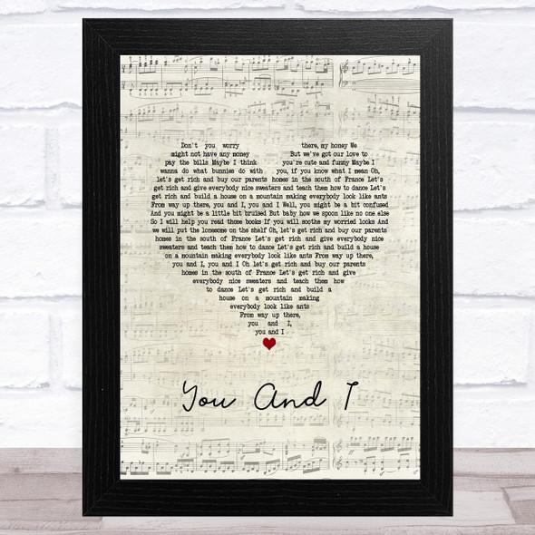Ingrid Michaelson You And I Script Heart Song Lyric Music Art Print