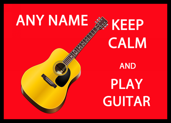 Keep Calm And Play Guitar Personalised Computer Mousemat