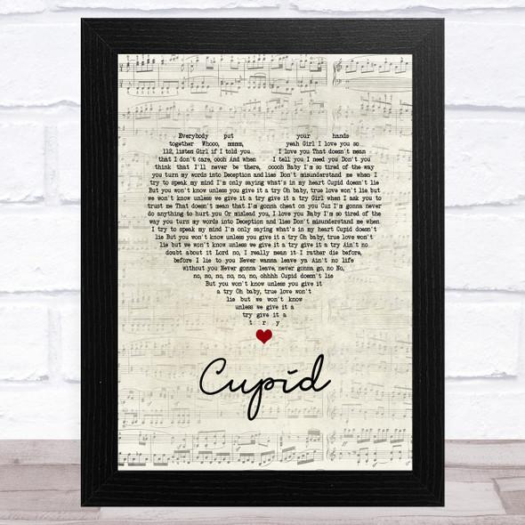 112 Cupid Script Heart Song Lyric Music Art Print