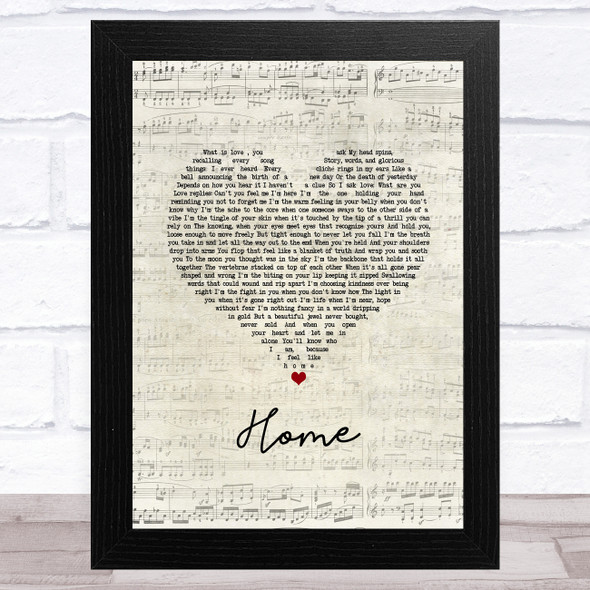 Imelda May Home Script Heart Song Lyric Music Art Print