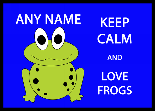 Keep Calm And Love Frogs Personalised Computer Mousemat