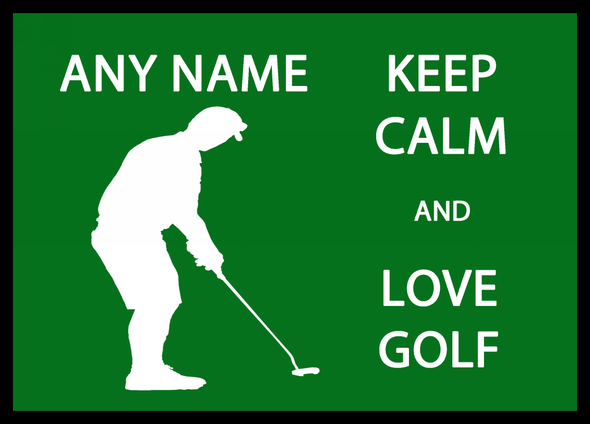 Keep Calm And Love Golf Personalised Computer Mousemat