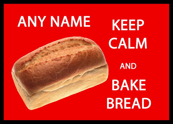 Keep Calm And Bake Bread Personalised Computer Mousemat
