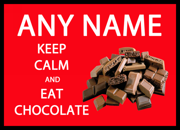 Keep Calm And East Chocolate Red Personalised Computer Mousemat