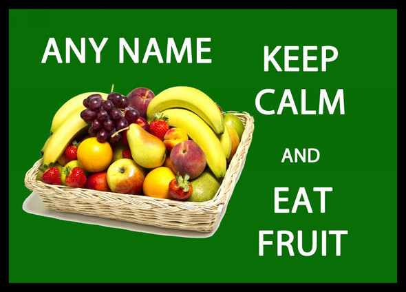 Keep Calm And Eat Fruit Personalised Computer Mousemat