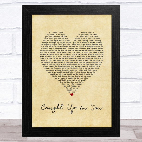 38 Special Caught Up in You Vintage Heart Song Lyric Music Art Print