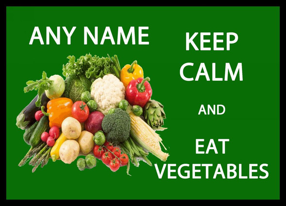 Keep Calm And Eat Vegetables Personalised Computer Mousemat