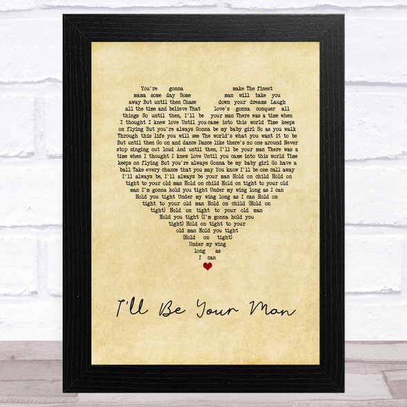 Zac Brown Band I'll Be Your Man Vintage Heart Song Lyric Music Art Print