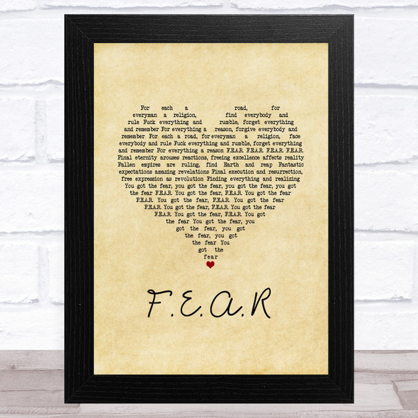 Ian Brown F.E.A.R Vintage Heart Song Lyric Music Art Print