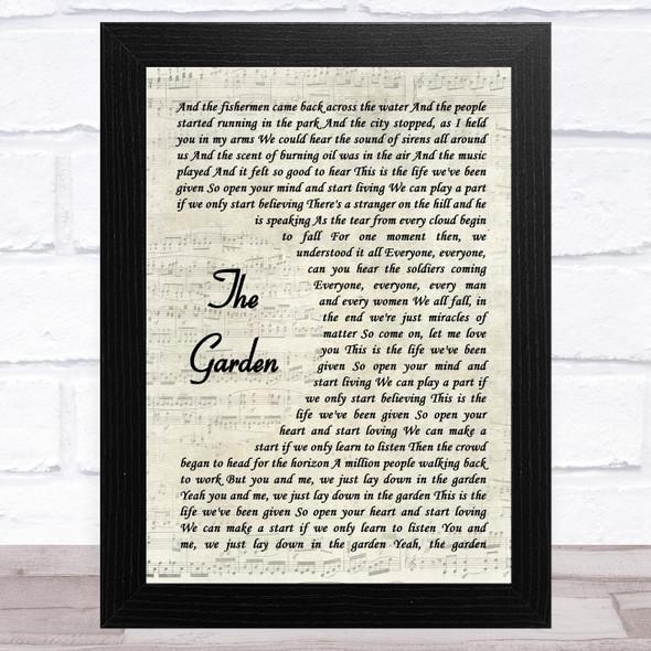 Take That The Garden Vintage Script Song Lyric Music Art Print