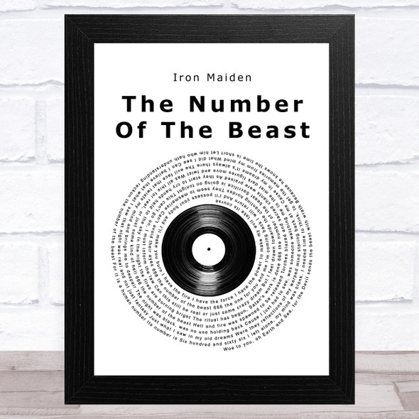 Iron Maiden The Number Of The Beast Vinyl Record Song Lyric Music Art Print