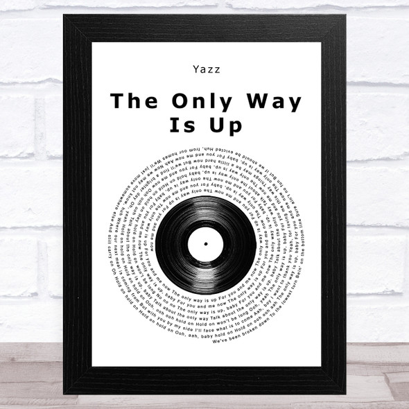 Yazz The Only Way Is Up Vinyl Record Song Lyric Music Art Print