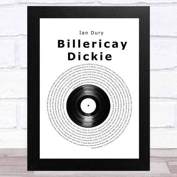 Ian Dury Billericay Dickie Vinyl Record Song Lyric Music Art Print