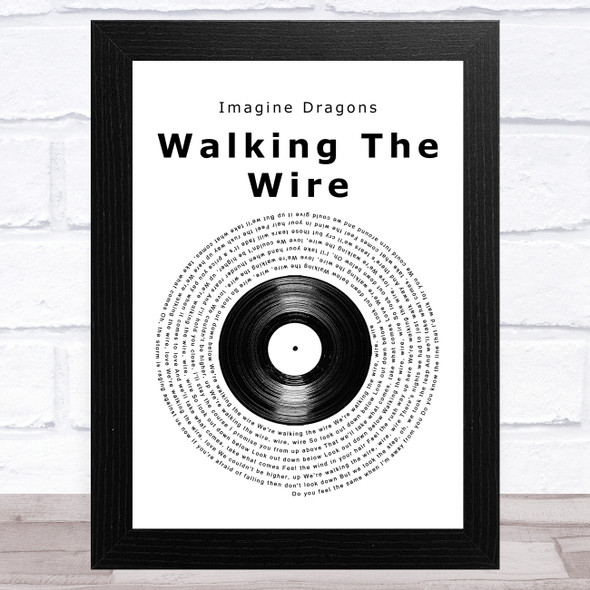 Imagine Dragons Walking The Wire Vinyl Record Song Lyric Music Art Print