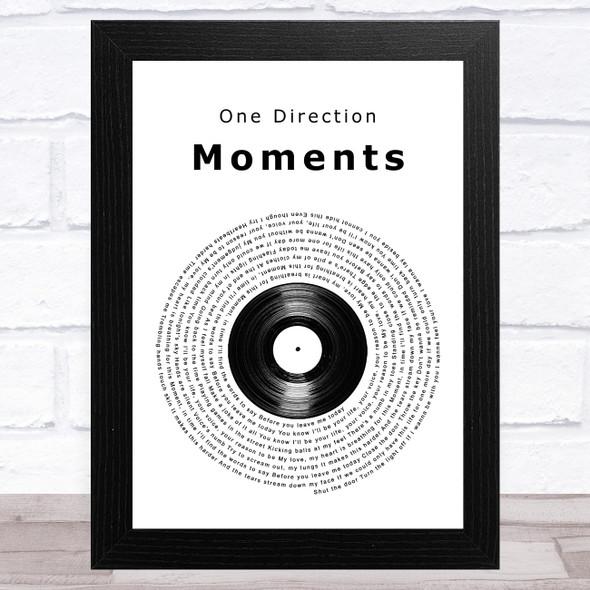 One Direction Moments Vinyl Record Song Lyric Music Art Print