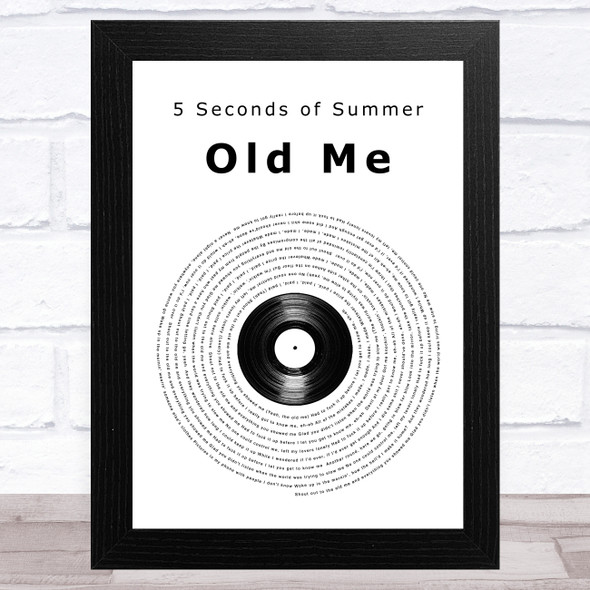 5 Seconds of Summer Old Me Vinyl Record Song Lyric Music Art Print