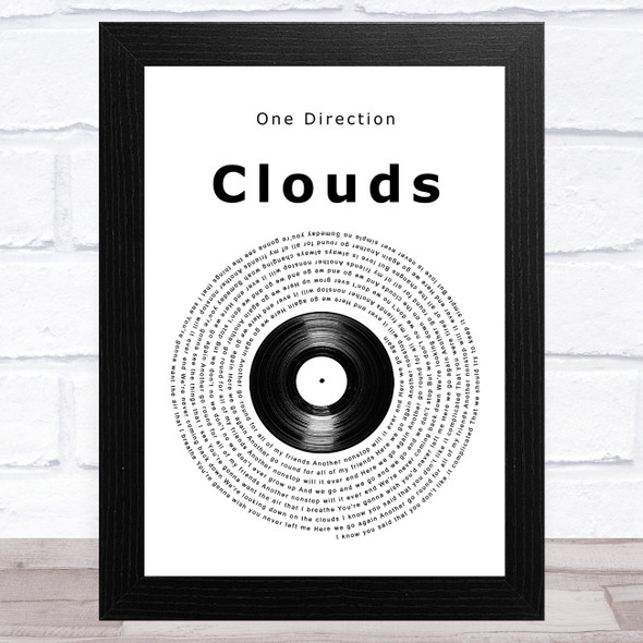 One Direction Clouds Vinyl Record Song Lyric Music Art Print