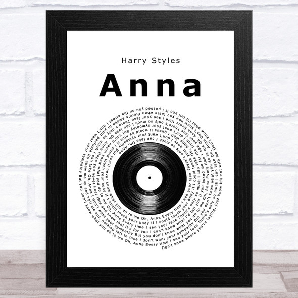 Harry Styles Anna Vinyl Record Song Lyric Music Art Print