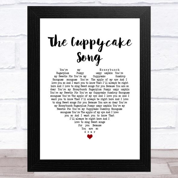 The Cuppycake Song White Heart Song Lyric Music Art Print