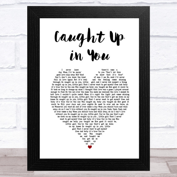38 Special Caught Up in You White Heart Song Lyric Music Art Print