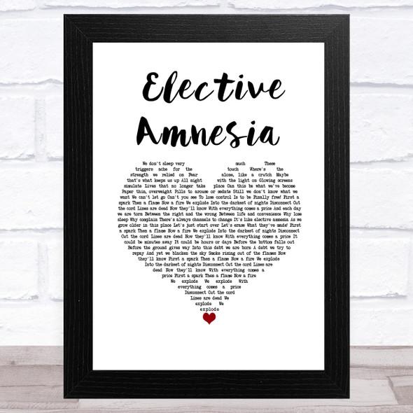 Rise Against Elective Amnesia White Heart Song Lyric Music Art Print