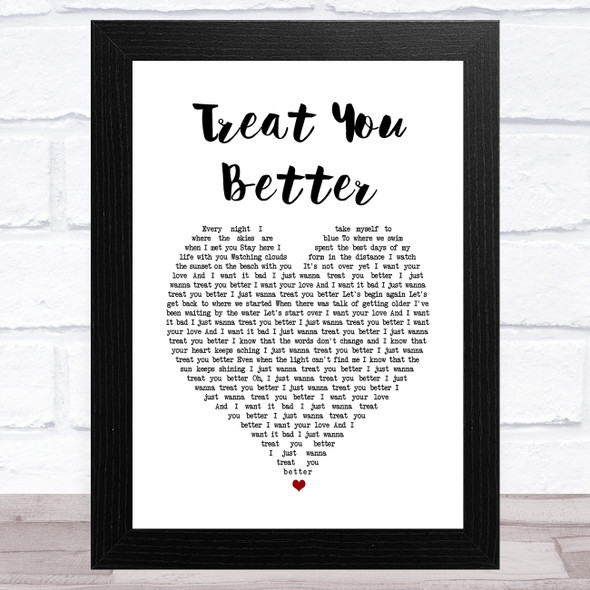 Rüfüs Du Sol Treat You Better White Heart Song Lyric Music Art Print