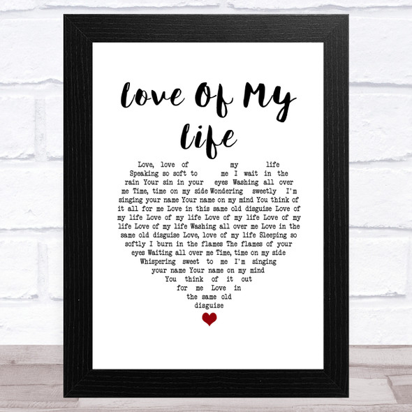Richard Hawley Love Of My Life White Heart Song Lyric Music Art Print