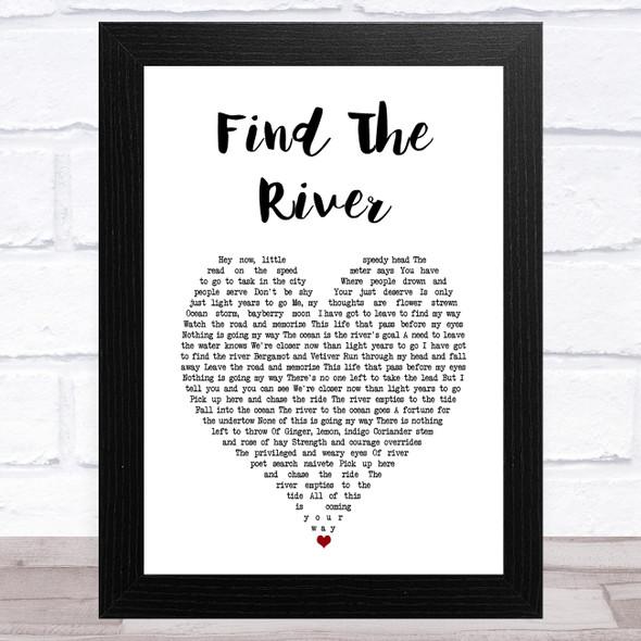 R.E.M. Find The River White Heart Song Lyric Music Art Print