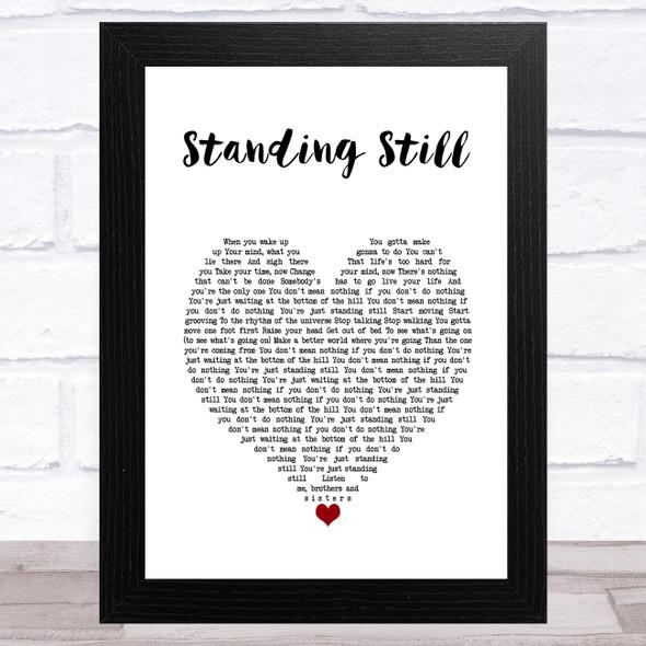 Ringo Starr Standing Still White Heart Song Lyric Music Art Print