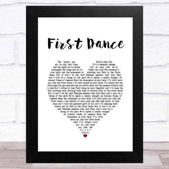 Corey Smith First Dance White Heart Song Lyric Music Art Print