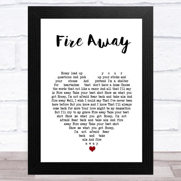 Chris Stapleton Fire Away White Heart Song Lyric Music Art Print