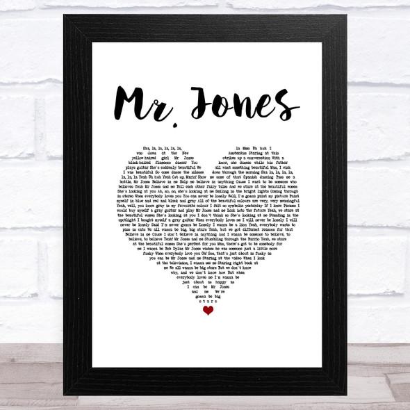 Counting Crows Mr. Jones White Heart Song Lyric Music Art Print