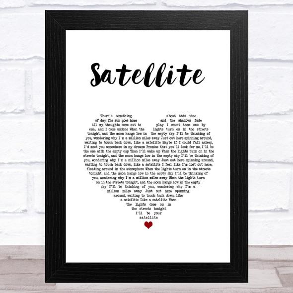 Randy Rogers Band Satellite White Heart Song Lyric Music Art Print